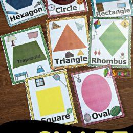 FREE Shape Flashcards Scavenger Hunt