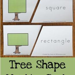 FREE Tree Shape Matching Cards