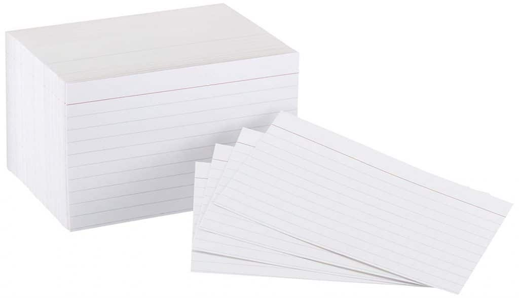 Amazon Deal: AmazonBasics 3x5 in. Index Cards (10% off!)