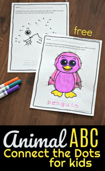 FREE Animal ABC Connect the Dots Pages