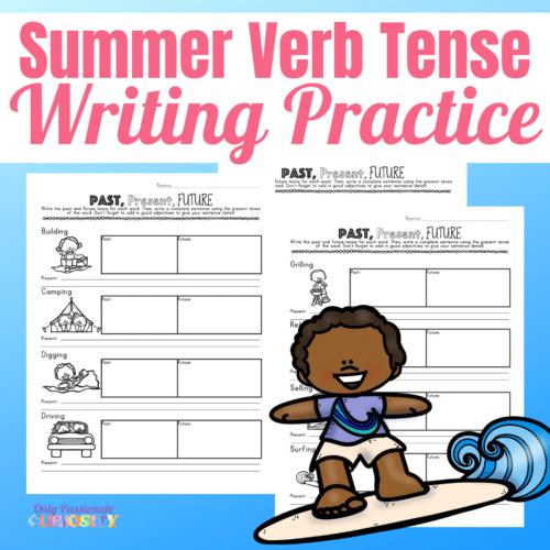 FREE Summer Verb Tense Writing Pack