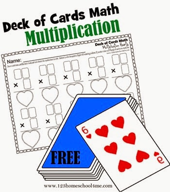 FREE Deck of Cards Math: Multiplication