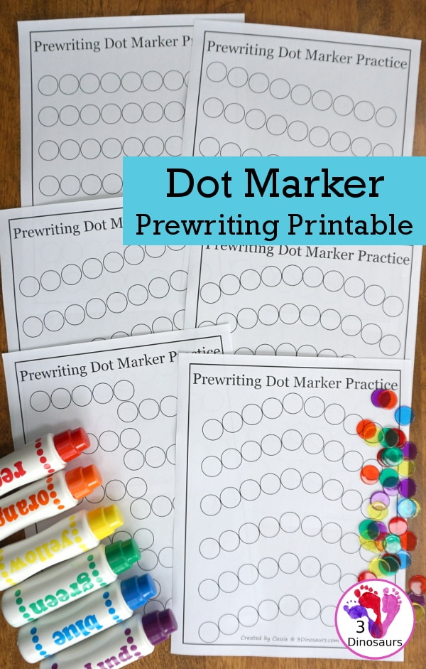 FREE Prewriting Dot Marker Printables