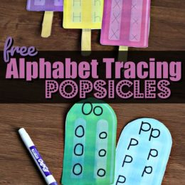FREE Alphabet Tracing Popsicles