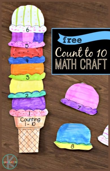 FREE Ice Cream Counting Math Craft