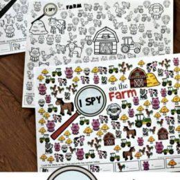 FREE I Spy Farm Animals Printables