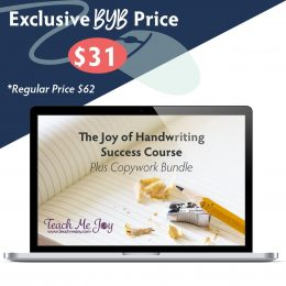 Build Your Bundle FLASH SALE! 50% Off The Joy of Handwriting Success Course!