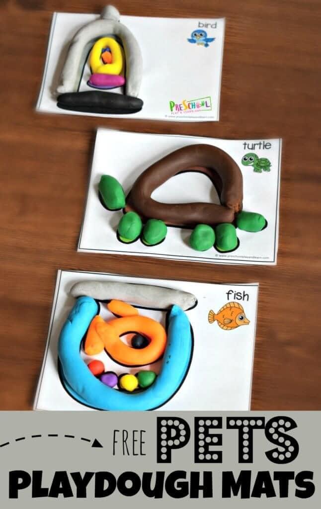 FREE Pets Playdough Mats