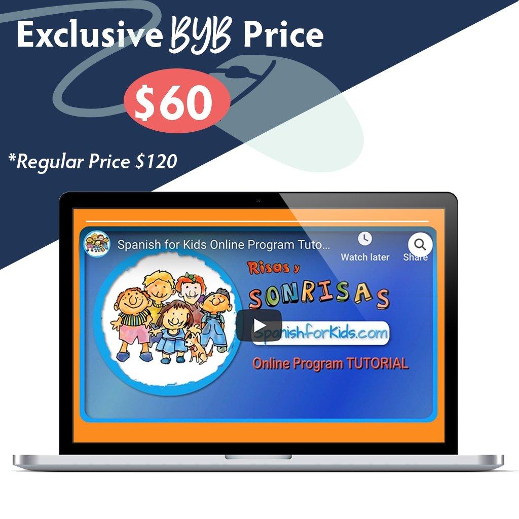 Build Your Bundle FLASH SALE! 50% Off Spanish for Kids!