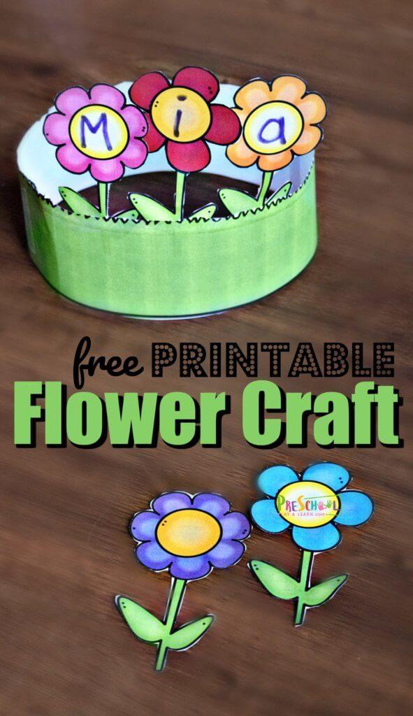 FREE Name Flower Craft