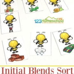 FREE Spring Initial Blends Sorting Game
