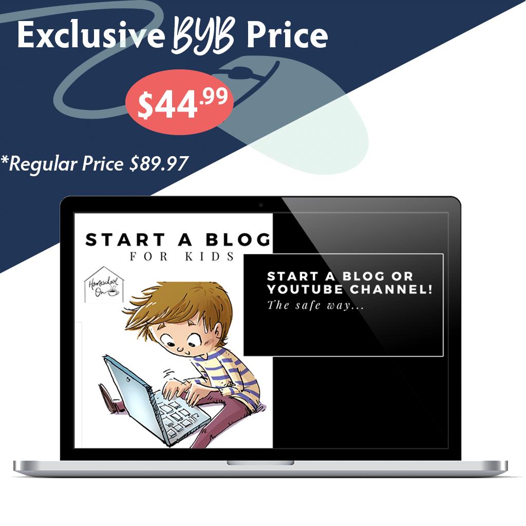 Build Your Bundle FLASH SALE! 50% Off Start a Blog/Youtube Channel for Kids!