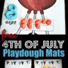 FREE 4th of July Playdough Mats