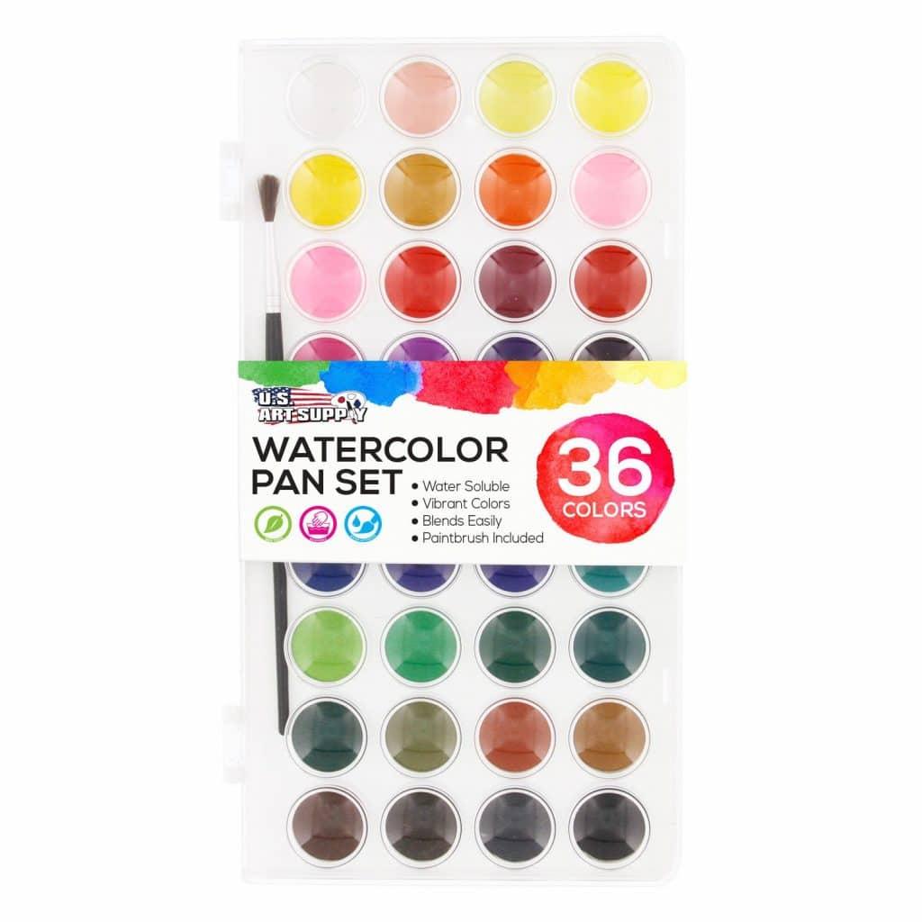 Amazon Deal: 63% Off 36 Watercolor Paint Set & Paintbrush!