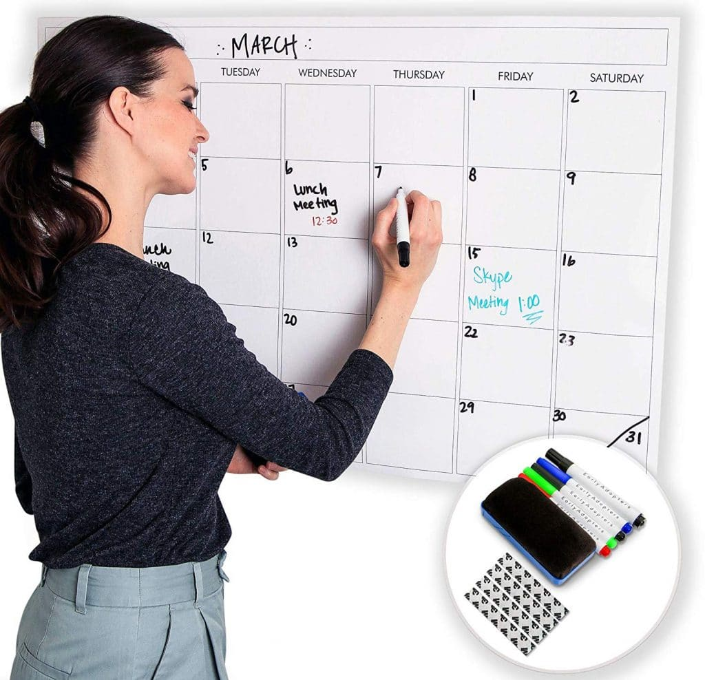 Amazon Deal: 20% Off Large Dry Erase Laminated Wall Calendar