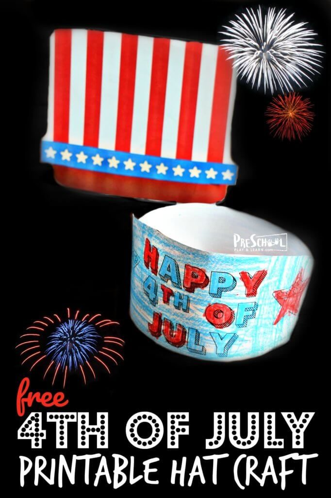 FREE 4th of July Hat Craft
