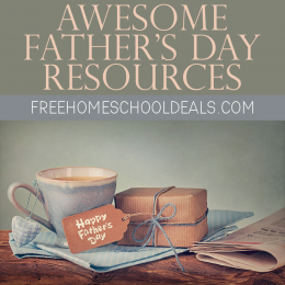 coffee mug with small gift and tag reading Happy Father's Day - 14 Awesome Father's Day Resources