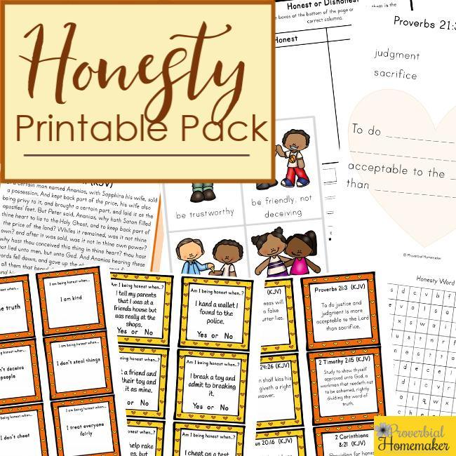 FREE Honesty Printable Pack