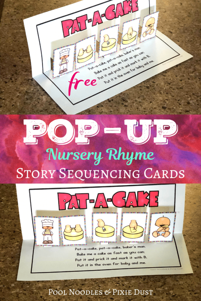 FREE Pat-A-Cake Pop-Up Sequencing Cards