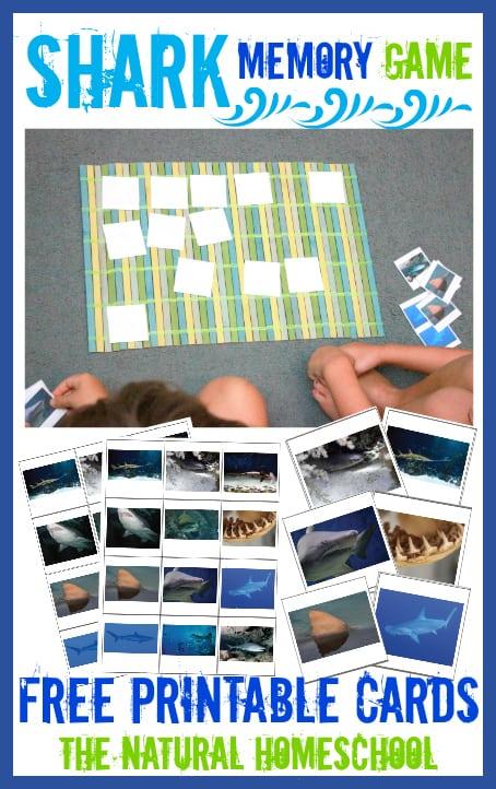 FREE Shark Memory Game