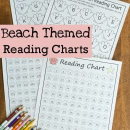FREE Beach-Themed Reading Charts