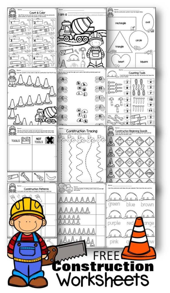 FREE Construction Worksheets