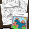 FREE Dinosaur Color by Number Pages