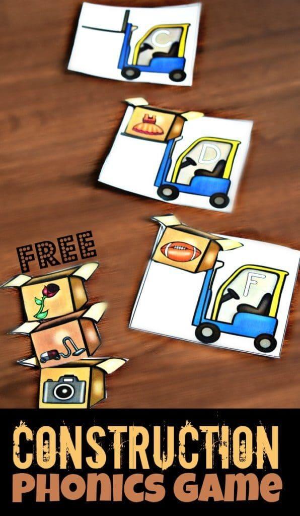 FREE Construction Phonics Game