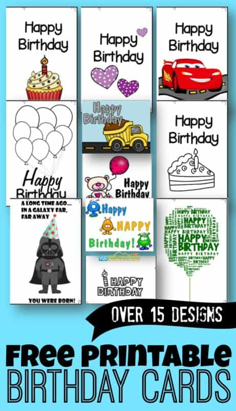 Free Printable Birthday Cards Free Homeschool Deals C