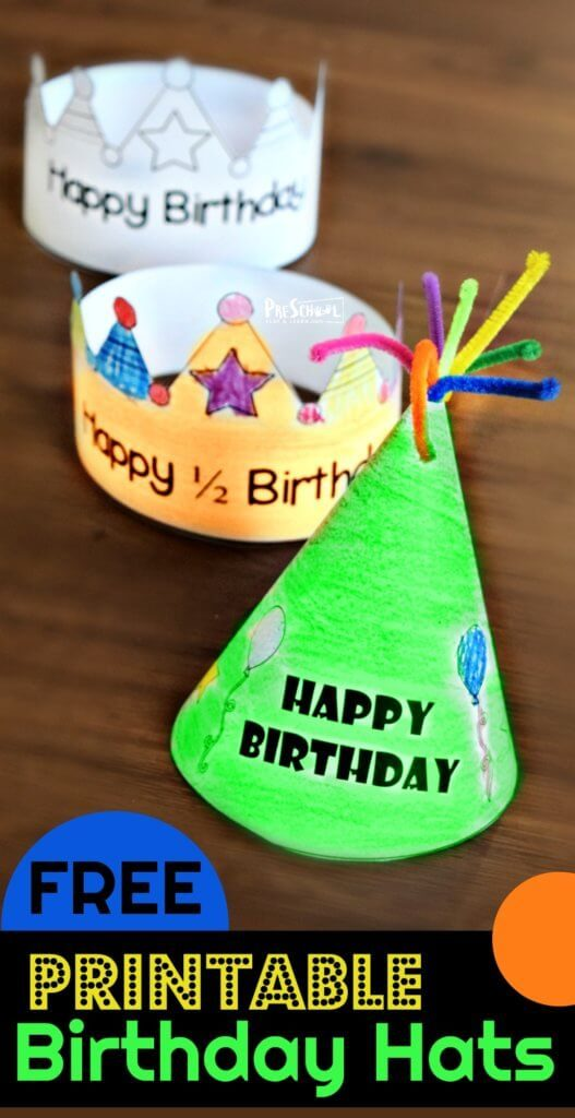 FREE Printable Birthday Hats