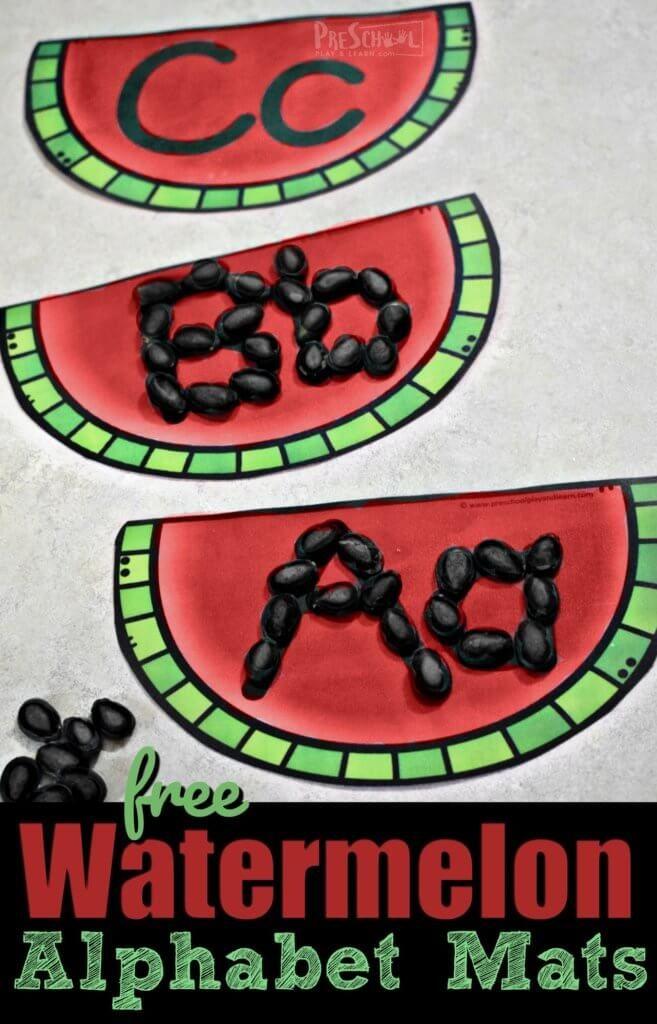 Free Watermelon Alphabet Mats Free Homeschool Deals