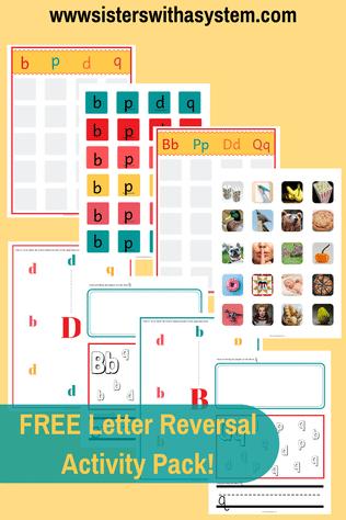FREE Letter Reversal Activity Pack