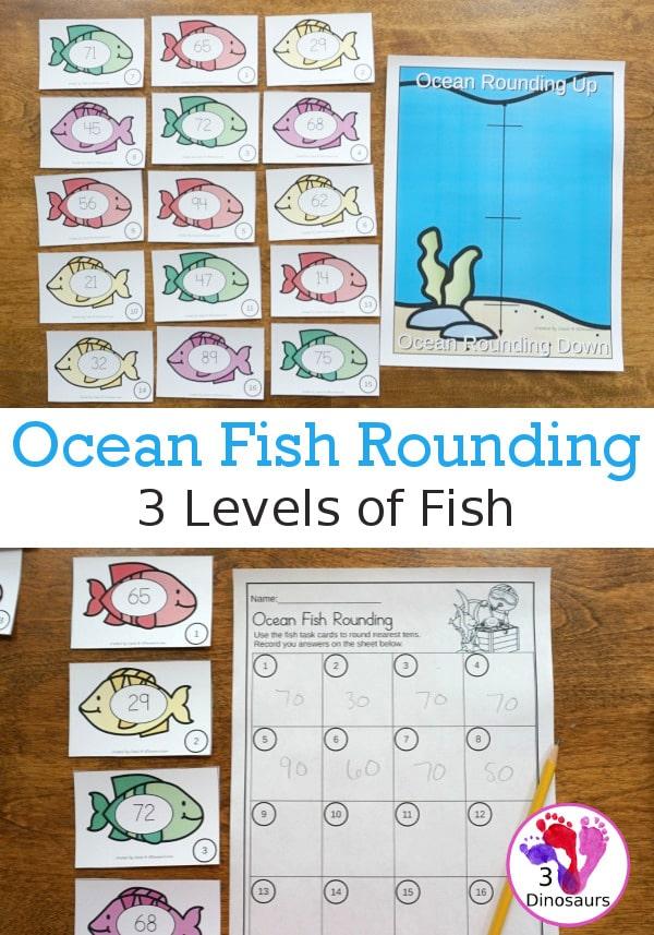 FREE Ocean Fish Rounding Activity