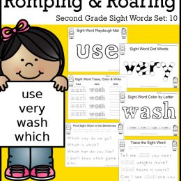FREE Romping & Roaring 2nd Grade Sight Word Set 10