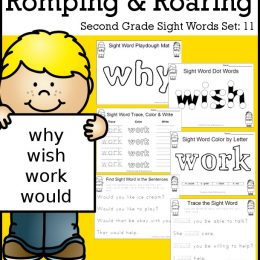 FREE Romping & Roaring 2nd Grade Sight Word Set 11