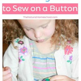 FREE Printable: The Best Way to Sew On a Button For Kids!