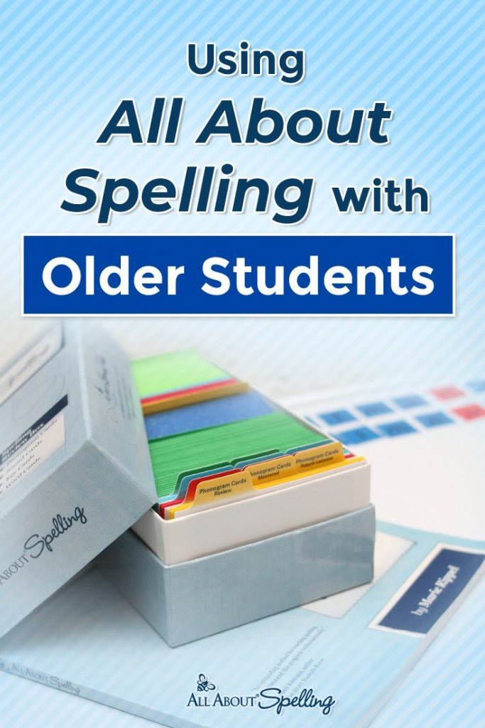 box of All About Spelling overlay - Using All About Spelling with Older Students
