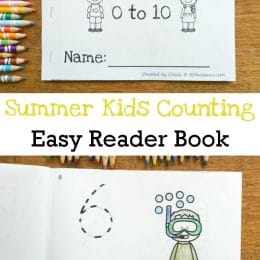 FREE Summer Kids Counting Easy Reader