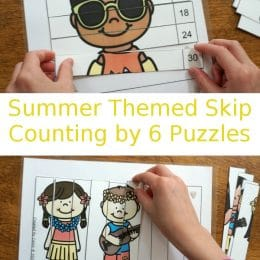 FREE Summer-Themed Skip Counting Puzzles