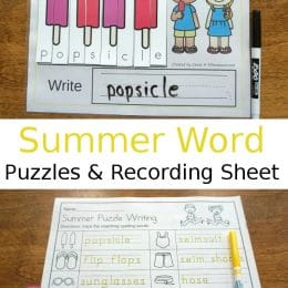 FREE Summer-Themed Spelling Puzzles