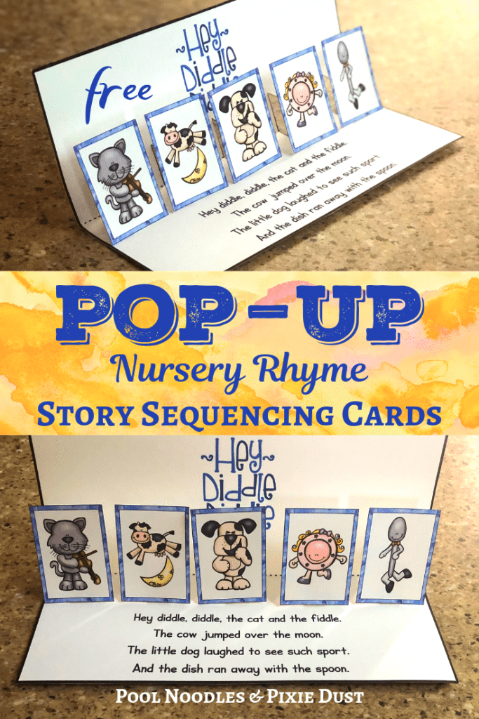 FREE Pop-Up Nursery Rhyme Sequencing Cards