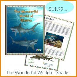 FREE The Wonderful World of Sharks Workbook!