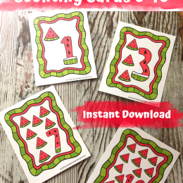 FREE Watermelon Counting Cards