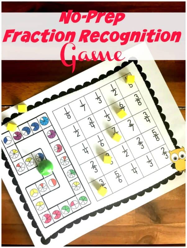 FREE No Prep Fraction Game