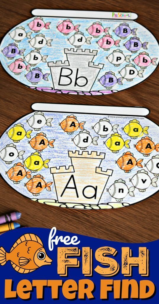 FREE Fish Letter Find Activity
