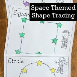 FREE Space Shape Tracing Sheets