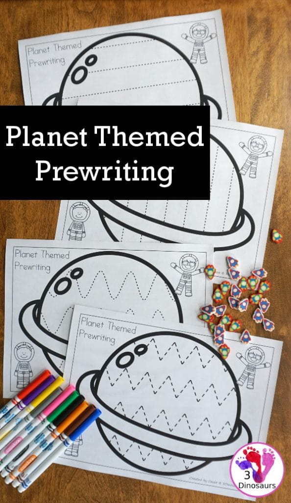FREE Planet-Themed Prewriting Activity