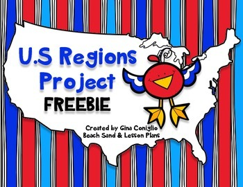FREE U.S. Regions Project Freebie