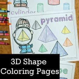 Introduce geometry this year with these 3D Shape Coloring Pages! #fhdhomeschoolers #freehomeschooldeals #homeschooling #hsfreebies #3dshapes