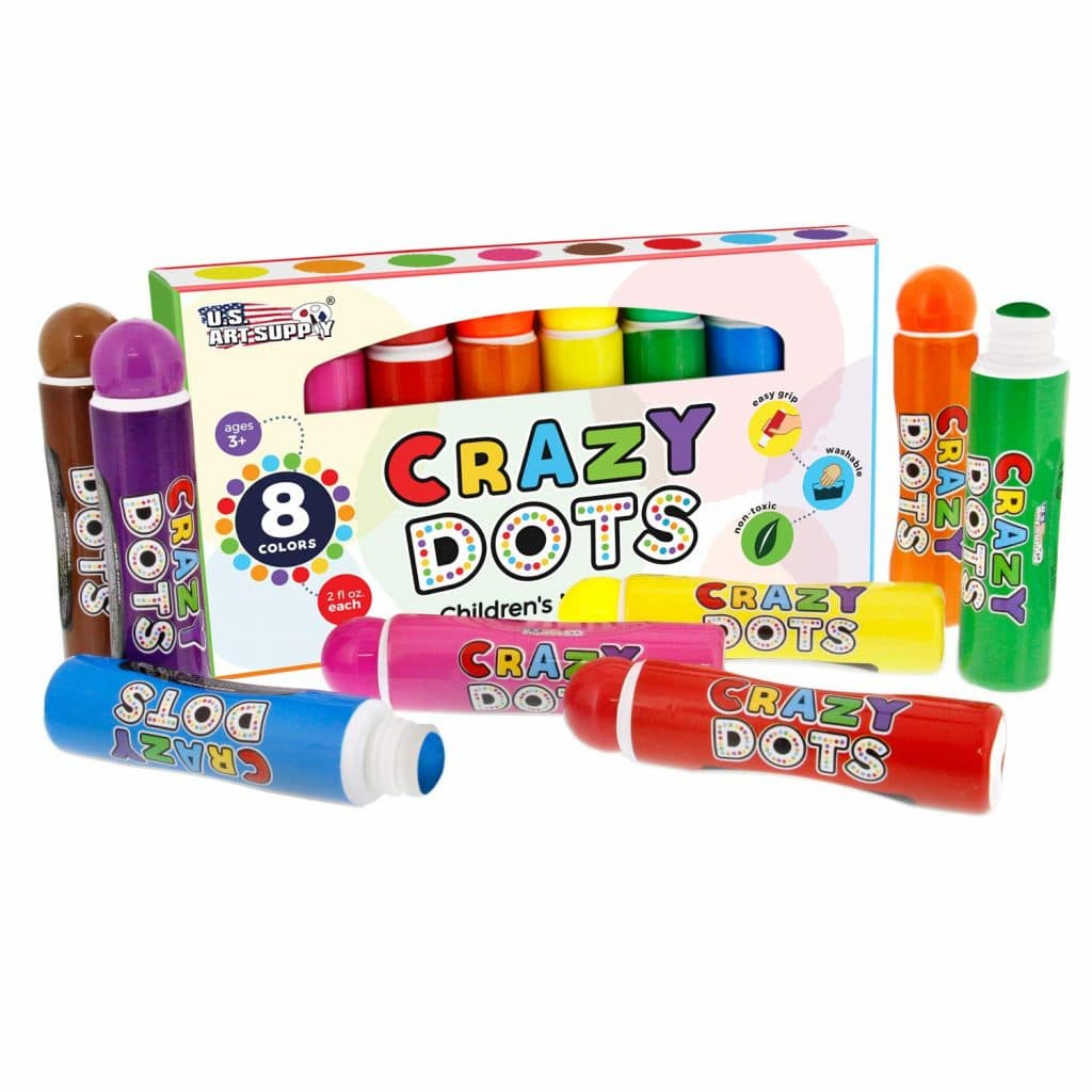 Dot markers are an essential preschool tool! Check out this Amazon Deal: 58% Off Crazy Dots Markers! #homeschoolmoms #homeschooling #homeschoolers #preschool